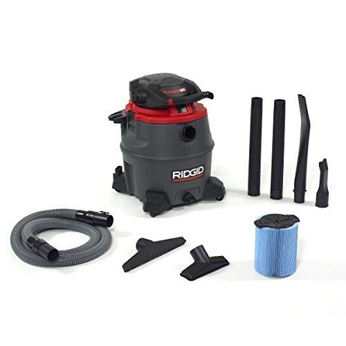 Ridgid 50343 1620RV Wet/Dry Vacuum with Blower, 16 gal, Red