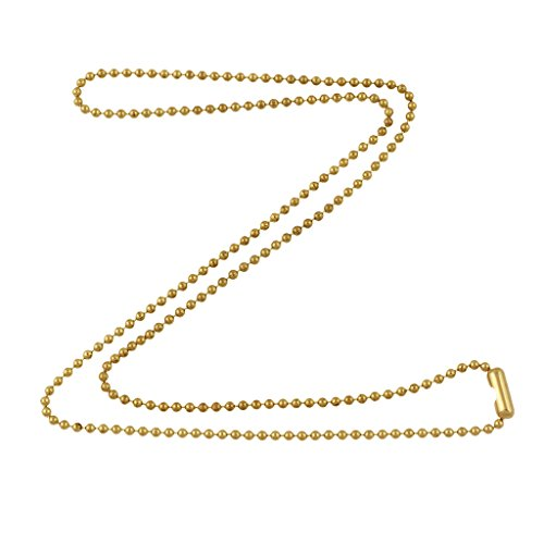 DragonWeave 1.8mm Fine Gold Tone Brass Plated Steel Ball Chain Necklace Extra Durable Color Protect Finish