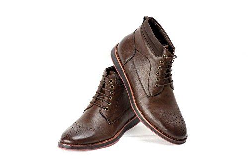 Herren Stiefeletten Chelsea Designer Smart Schuhe Kaffee
