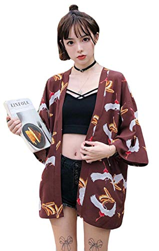 YiTong コーディガン レディース カーディガン 夏服 和式パーカー 花柄ブラウス 日焼け止め衣 UVカット 原宿風 カーディガン シャツ 薄手 コート