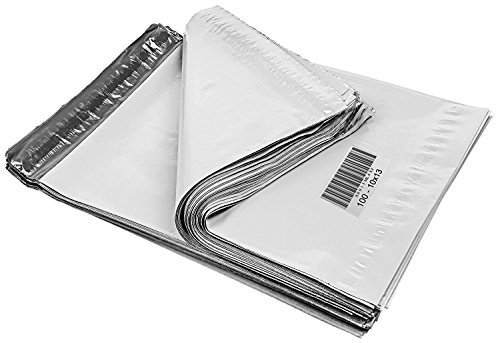 iMBAPrice Poly Mailers Shipping Envelopes Bags, 10 x 13 - inches , 100 Bags (White) (Bags Shipping Sealing)