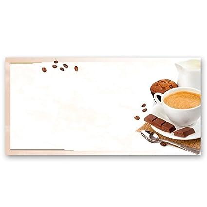 Papel de carta – Hojas estampadas CAFÉ CON LECHE 100 hojas formato DL