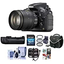Nikon D810 DSLR with AF-S NIKKOR 24-120mm f/4G ED VR Lens - Bundle MB-D12 Multi Battery Power Pack/Grip, 16GB SDHC Card, Camera Case, 77mm Filter Kit, Software Package and More