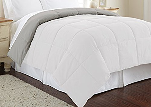 Ultra Soft Hypoallergenic Bedding - Medium Warmth for All Seasons Queen, White/Gray