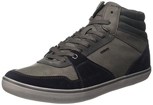 Geox Herren U Box Chaussure De J Hohe, Gris (bleu Marine / Anthracite)