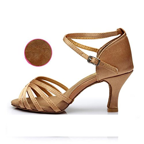 Baile Tacón Zapatos Adultos Latino A De Zapatillas Cm Fondo 5 Alto Cuadrados 7 Suave Inxw5Y