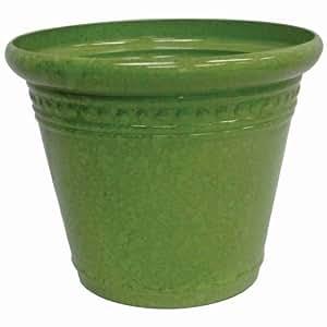Garden Odyssey PLYFP72612BB3 Glazed Milano Planter, Crackled Green, 12-Inch