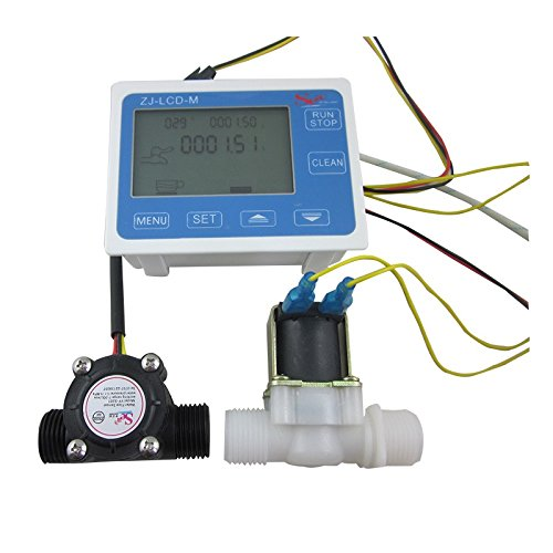 "DIGITEN G1/2"" Water Flow Control LCD Display+Flow Sensor ..."