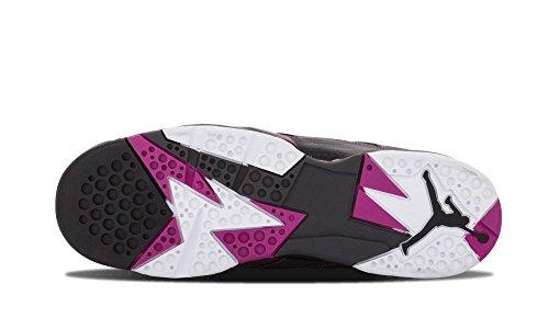 Nike Mädchen Air Jordan 7 Retro 30th GG Laufschuhe Grau / Weiß / Schwarz / Pink (Dunkelgrau / Weiß-Blck-FCHS Flsh)