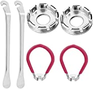 Youngneer 6 Pieces Bike Spoke Wrench Tool Bicycle Spoke Tool Steel Bike Rim Correct Kit Cycling Pocket Tools f