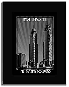 Al Kazim Tower Black And White F04-nm (a1) - Framed