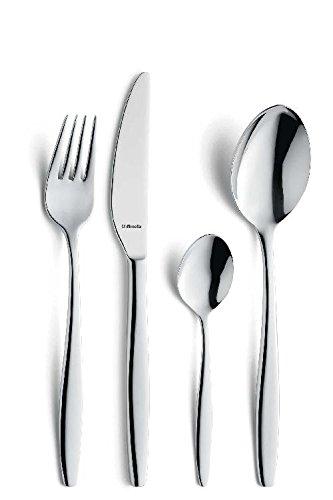 Cucharas, cucharas, acero inoxidable 18/10, plata: Amazon.es ...