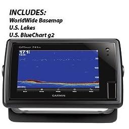 Garmin Gpsmap 741xs Combo U.S. Lakes & U.S. Bluechart G2