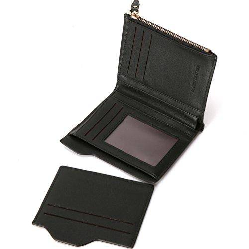 Bogesi- Männer Brieftasche Mit Reißverschluss Münztasche Movable ID Karte Halter Pure Kaffee