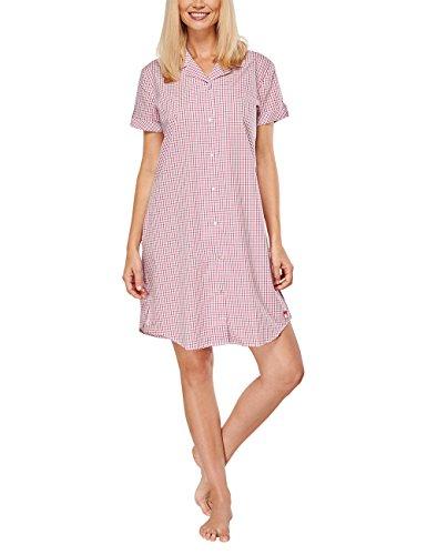 Seidensticker Damen Nachthemd Sleepshirt 1/2 Arm, Gr. 42, Rot (pink 504)
