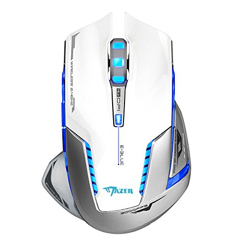 E-3lue-EMS601WHAA-Mazer-II-2500-DPI-Blue-LED-24GHz-Optical-Portable-Mobile-Wireless-Gaming-Mouse-Mice-for-Notebook-PC-MacLaptop-Computer-Macbook-White