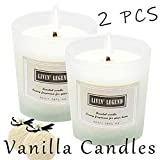 Vanilla Scented Candle-Natural Wax and Sweet Vanilla Essential Candles,Long Lasting and Highly Scented for Stress Relief,Romantic Dinner Date,Spa