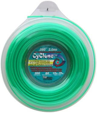 Cyclone .080-Inch-by-200-Foot Spool Commercial Grade 6-Blade 1/2-Pound Grass Trimmer Line - Recommended for Industrial Use