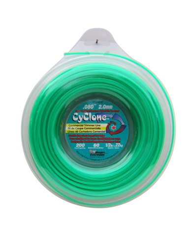 Cyclone .080-Inch-by-200-Foot Spool Commercial Grade 6-Blade 1/2-Pound Grass Trimmer Line, (Trimmer Line Green)