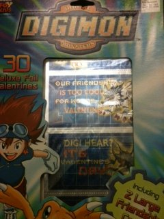 Digimon Digital Monsters 30 Deluxe Valentines with Seals