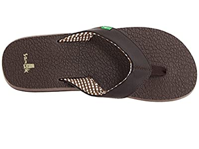 Sanuk Women's Yoga Mat Flip-Flop (8 B(M) US, Brown/Brown)