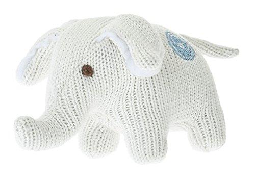 Beba Bean Knit Cotton Animal Rattle for Baby (Elephant Ivory) (Knit Elephant)