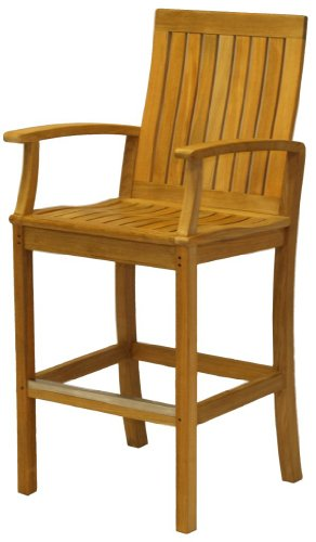 Three Birds Casual Monterey Bar Chair With Arms, Teak