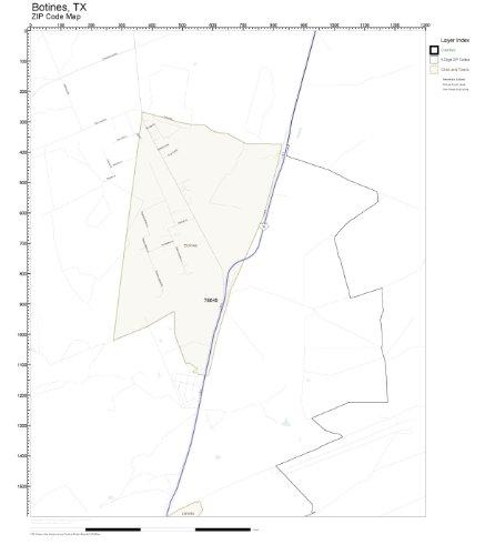 Amazon.com: ZIP Code Wall Map of Botines, TX ZIP Code Map Not Laminated: Home & Kitchen