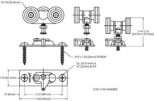 100PD Commercial Grade Pocket / Sliding Door Hardware (72'') by Johnson Hardware (Image #5)