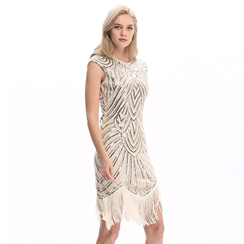 Pilot-trade Womens 1920s Dress Flapper Vintage Great Gatsby Charleston Party Dress S