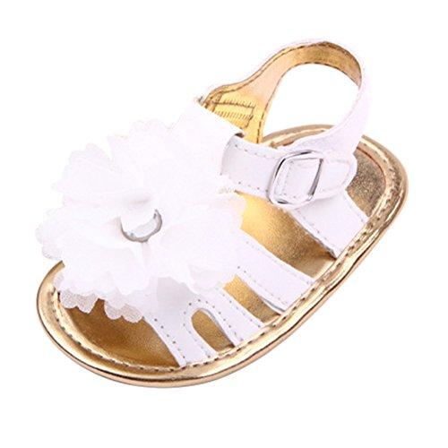 Sandalias De Bebe,BOBORA Prewalker Zapatos Primeros Pasos Para Bebe Las Sandalias Del Nina De La Flor Del Bebe blanco