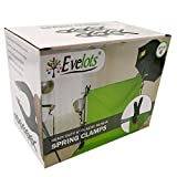 Evelots Spring Clamps-6 Inch LONG-Strong Grip