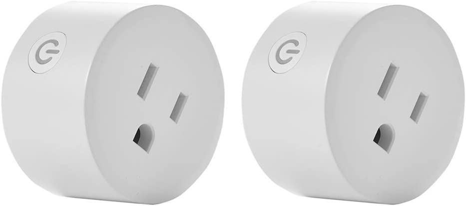 Wifi Smart Socket,Smart Plug,Smart life WiFi Plug,Outlet Compatible with Alexa and Google Home,Only 2.4G WiFi, No Need Hub,10A ,2/4 pieces ,for Home/Office (2)