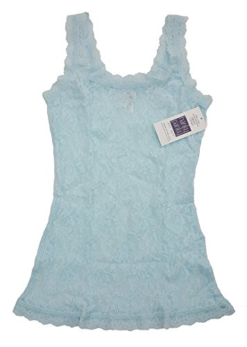 Classic Lace Camisole (Hanky Panky Signature Lace Classic Camisole Light Blue (L))