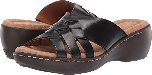 Easy Spirit Women's Dakota Black 5 M US (Dakota Black Leather)