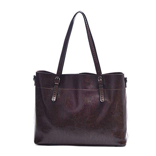 "Large Genuine Leather Totes Handbags,Artmis Women Vintage Crossbody Purses Shoulder Bags For Work Fit Up13.3-14.1"" Laptop"