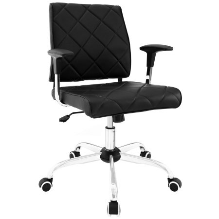 East End Imports EEI-1247-BLK Lattice Vinyl Office Chair, Bl