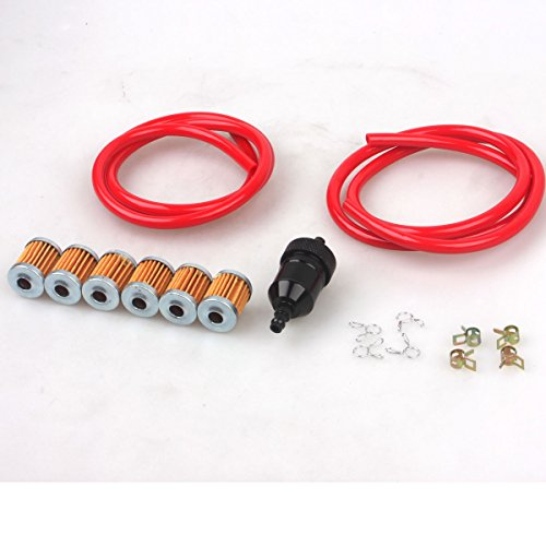 wingsmoto 0 197inch inner dia colorful motorcycle performance fuel tube  hose line with clips fuel filter