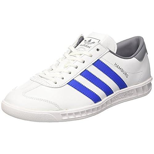 Adidas Hamburg, Zapatillas Hombre, Varios Colores (Collegiate Navy/FTWR White/Gold Metalic), 38 2/3