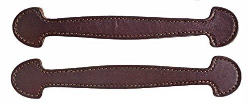 Leather Steamer Trunk - Pair of Havana Brown Steamer Trunk Leather Handles