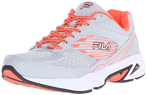 Fila Women's Inspell 3-w Running Shoe, Highrise/Fiery Coral/Black, 7.5 M US