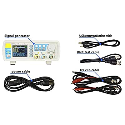 Waveform Signal Generator,AC100-240V FY6800 Double Channel DDS Function Arbitrary Waveform Signal Generator(US 30MHz)