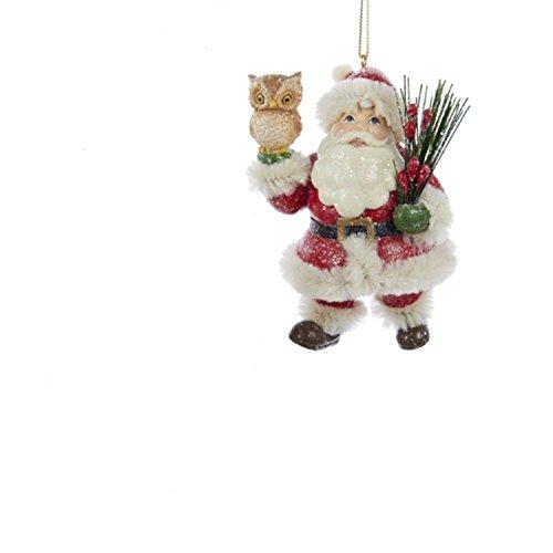 3.5 inch resin Santa Holding Owl