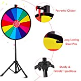 """Giantex 24"""" Spinning Prize Wheel with Adjustable"""