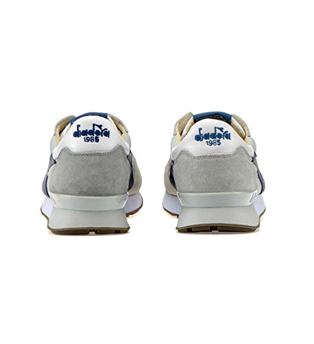 Diadora Heritage Camaro H SW Core Colore Bianco Scarpe Sportive Uomo in Pelle E Tessuto Sneakers Stile Made in Italy, 45
