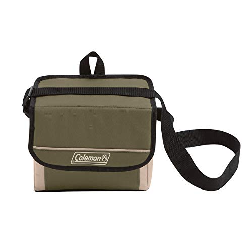 - Coleman 9-Can Collapsible Cooler with 16-Hour Ice Retention | Soft-Sided Cooler Bag Folds Flat for Compact Storage, Olive Leaf