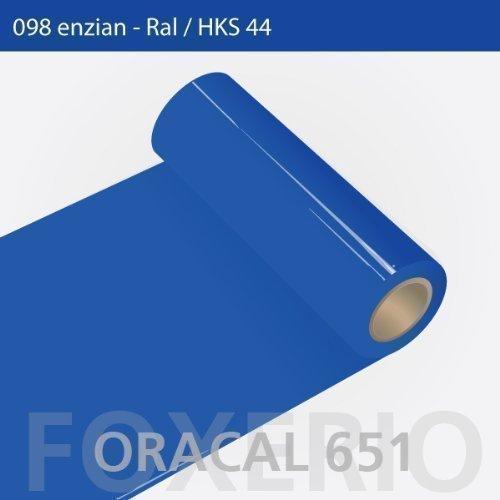 Orafol - Oracal 651 - 63cm Rolle - 15m (Laufmeter) - Enzian   glanz, A43oracal - 651 - 15m - 63cm - 42 - kl - Autofolie   Möbelfolie   Küchenfolie