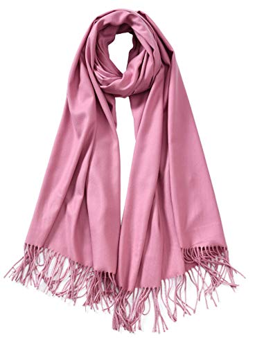 Cindy & Wendy Large Soft Cashmere Silky Pashmina Solid Shawl Wrap Scarf for Women ()