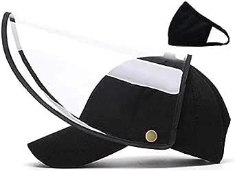 CYB Detachable Black Full Face Hat Adjustable Baseball Cap for Men and Women