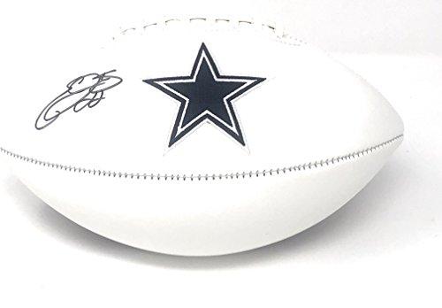 Emmitt Smith Dallas Cowboys - Emmitt Smith Dallas Cowboys Signed Autograph Embroidered Logo Football Smith GTSM Player Hologram